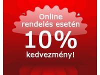 Online rendelés esetén 10% kedvezmény!