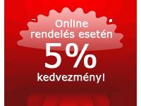 Online rendelés esetén 5% kedvezmény!