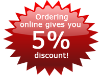 Ordering online gives you 5% discount!
